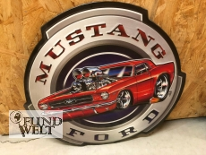 Ford Mustang Racing - Metallschild