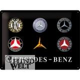 Blechschild - Mercedes Benz - 6 Classic Logos - 30x40cm
