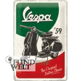 Blechschild - Vespa - 59`The Original Italian Classic - 20x30cm