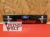 Ford Mustang schwarz – Straßenschild - 45x10cm