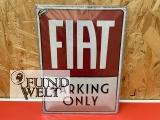 Fiat Parking Only – Metallschild – 30x40cm
