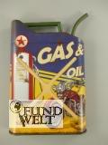 Wandschild(Gestanzt) Kanister Gas & Oil 50x35cm