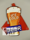 Wandschild(Gestanzt) Ice Cold Beer 35x30cm