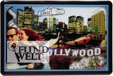 Blechschild - Hollywood Sunset Blvd - 20x30cm