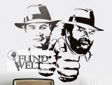 Wandtattoo Wandsticker Bud Spencer Terence Hill 48x42