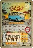 Blechschild - VW Bulli Kalender - 20x30cm