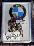 Blechpostkarte - BMW Motorrad