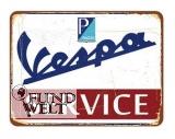 Blechschild - Vespa Service - 20x30cm