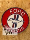 Ford Mustang Logo - Metallschild rund
