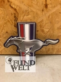 Ford Mustang Logo mit Pferd - motivgeschnitten - Metallschild