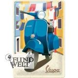 Blechschild - Vespa Italian Laundry - 20x30cm