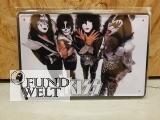 Blechschild - Kiss - 20x30cm