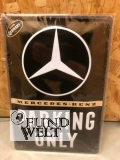 Blechschild - Mercedes Parking Only - 20x30cm