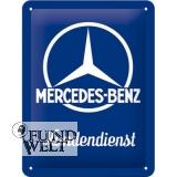 Blechschild - Mercedes Kundendienst - 15x20cm
