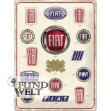 Fiat - Logo Evolution - Metallschild 30x40cm