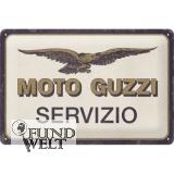 Moto Guzzi - Servizio - Metallschild 20x30cm