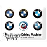 BMW - Logo Evolution - Metallschild 30x40cm