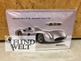 Blechschild - Mercedes Benz W196 - Silberpfeil - 20x30cm geprägt