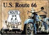 Blechschild - Route 66 beige - 20x30cm