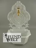 Wandbrunnen Alu Guß weiss H.58cm