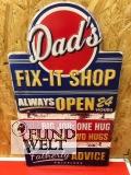 Wandschild(Gestanzt) Eisen Dads Fix-It H.60cm