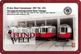 Blechschild - 50 Jahre Tramwaymuseum - 20x30cm