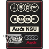 Blechschild - Audi Evolution - 40x30cm